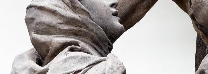 Vidění sv Luitgardy, Matyáš Bernard Braun, detail, fotoarchiv GHMP