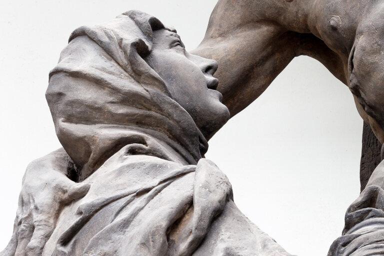 ›Vidění sv Luitgardy, Matyáš Bernard Braun, detail, fotoarchiv GHMP
