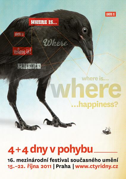 ›Poster / 16. ročník festivalu současného umění 4+4 Dny v pohybu, Praha