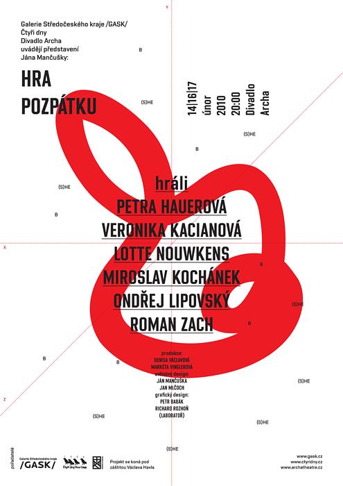 ›Ján Mančuška / Hra pozpátku / plakát